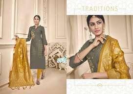Fancy Salwar Materials, Tops