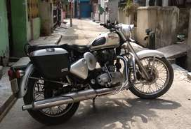 Well Maintained RE Classic 350 Silver Colour