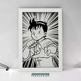 IP451 Poster Anime Hiasan Dinding Kungfu Boy Tekken Chinmi 45x30cm