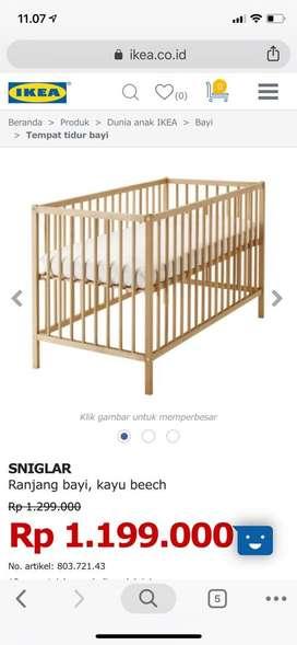 Tempat tidur bayi IKEA SNIGLAR