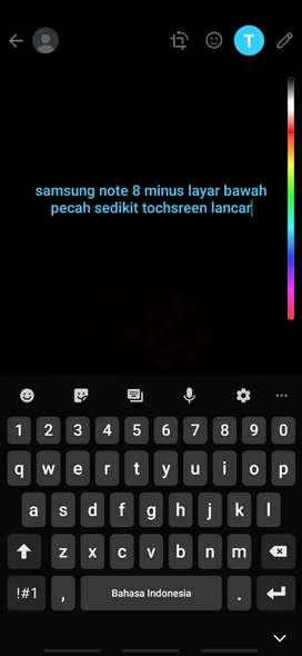 Samsung note 8 minus layar
