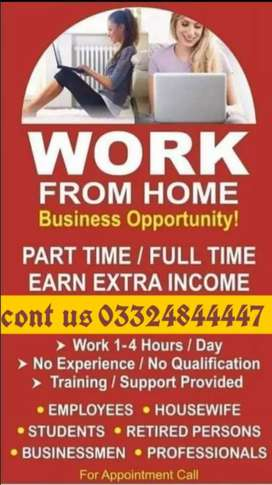 Male Female required for home base online job
