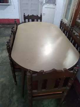 Dinning table with chairs (6 seater)..