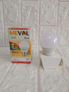 PROMO GAN-LAMPU BOHLAM LED MEVAL 5WATT CAHAYA KUNING MENERANGI-BARU