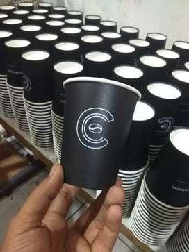 Sablon gelas paper cup untuk coffee shope