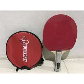 Buterfly Ping Pong Bat Bet Tenis Meja Pingpong Tennis Butterfly Merah