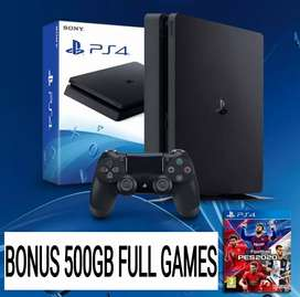 PS4 SLIM PAKET FULL GAMES 500GB