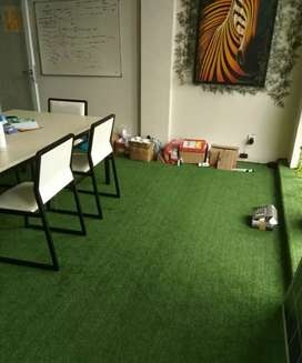 Dekorasi Rumah Kantor Pakai Rumput sintetis Golf