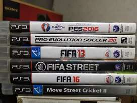 FOOTBALL & ACTION PS3 Games & 1 Eye Cam For Sale