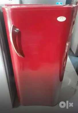 Godrej single door fridge in red colour
