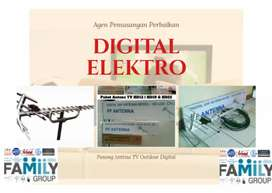 Jual antena tv digital + pemasangan lokasi dekat Megamendung