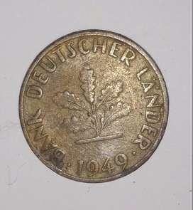Old coin bank deutscher lander 1949