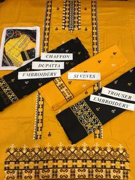 *Phulkari Eid collection  Hit Code  Available on Fine Quilty Lawn  wit