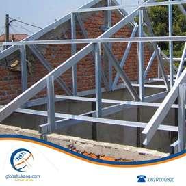 Pemasangan rangka baja ringan kanopi, rangka atap, pagar, dan lainnya