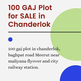 100 gaj plot for sale at chander lok colony