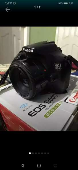 Canon 1300d with 50mm and 75-300 lense