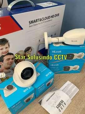 TOP BRAND CCTV ALL MERK PROMO 4 CAMERA FULL SET FULL HD PLUS INSTALASI