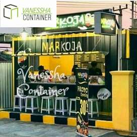 BOOTH SEMI CONTAINER / CONTAINER KEDAI KOPI / CONTAINER DAGANG