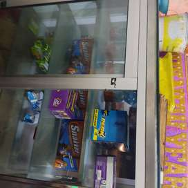 Vijay udyog sweets and cake display counter with patties hotcase