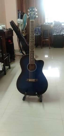 Guitar with facility for Electric Option-Blue colour