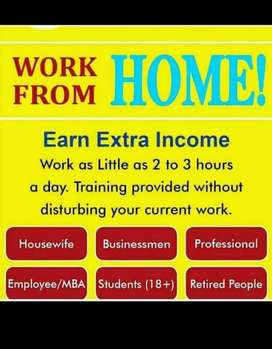 अतिरिक्त आय के साथ घर से काम पार्ट / फुल टाइम