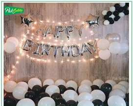 Happy birthday foil complete package