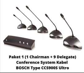 Paket mic conference Bosch ccs 900 ultro original
