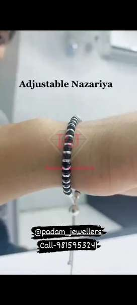 Silver ( chandi ) Adjustable Nazariya