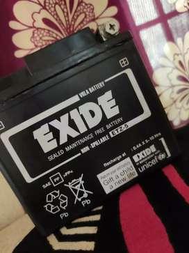 Exide battery 12.4 v