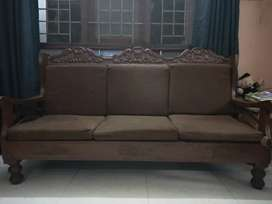 Rose wood sofa,  3 + 1 + 1 seater , good condition , 5 years old