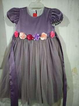 Dress anak impor unggu siz 6-7 y