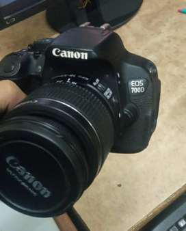 Canon 700D With 18/55 lens