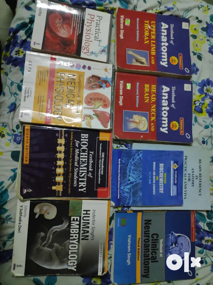 1st year MBBS  year old complete textbooksanpracticals . 0