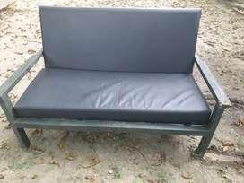 Wide wooden Sofa