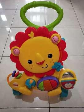 Mainan Anak Fisher Price Musical Lion Walker