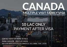 Canada multiple entry visit visa for families. With 0% advance.