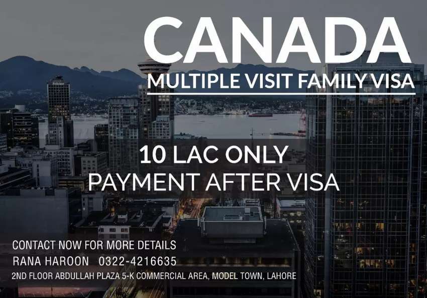 Canada multiple entry visit visa for families. With 0% advance. 0