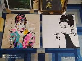 Lukisan Pop Art Audrey Hepburn