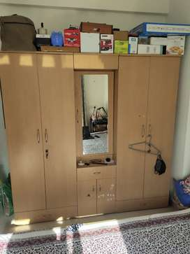 Wanted to sale Wooden cupboards with dressing table