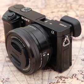 Sony A6000 Fullset kit 16-50mm OSS Hitam kode 1125B19