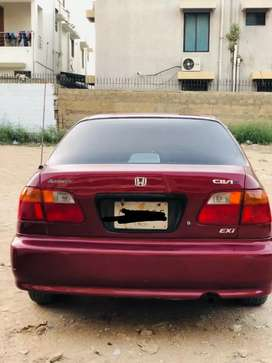 Honda Civic 1999 Exi automatic Maroon Colour