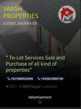 3 bhk independent flat for rent in sbs nagar