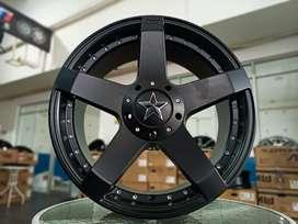Velg SUV Rockstar Ring 18x8 h10x100/114.3 ET35 Rush Terios Innova CRV
