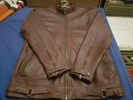 Jaket kulit domba garut size M