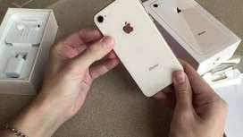 iPhone 8 in 64 GB ROM with fast charging available in different colors