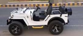 White open modified jeep