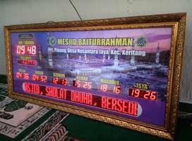 Sedia Jam Masjid Digital Mewah Untuk Masjid Besar Bondowoso