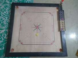 "32"" CARROM BOARD WITH COINS AND STRIKER"