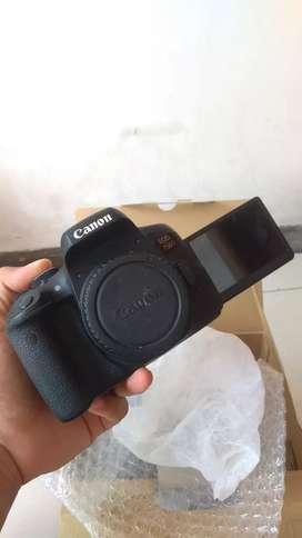 Canon 750D Mulus Fullset Like New!!