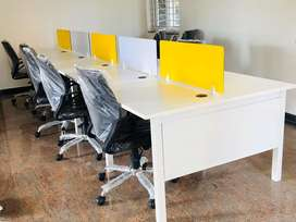 Iron workstations each seating